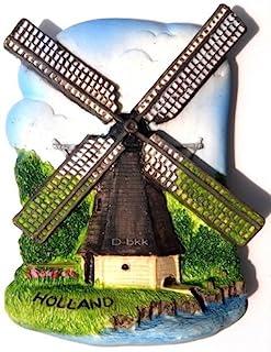 风磨。 荷兰。 荷兰高品质树脂 3D 冰箱磁贴