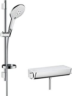 Hansgrohe 汉斯格雅 Raindance Select S 150 恒温淋浴套装 0.65 米 3 种喷淋模式,白色/镀铬