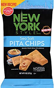 New York Style Pita Chips, Sea Salt, 8 Ounce (Pack of 12)