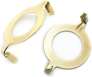 E27 酚醛插座灯竖琴座底座 2 件灯罩支架防滑 UNO 项圈适配器适用于 E27 螺纹底座 1.65 英寸(42 毫米)金色
