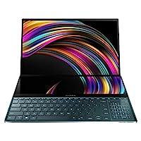 Asus 华硕 ZenBook Pro Duo UX581 笔记本电脑,15.6英寸(约39.62厘米)4K UHD NanoEdge边框触摸屏,英特尔酷睿i7-9750H,16GB RAM,1TB PCIe SSD,GeForce RTX 2060,创新Screenpad Plus,Windows 10 Pro,天蓝色,UX581GV-XB74T