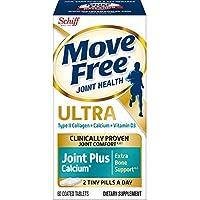Move Free 益节 II型胶原蛋白,钙,维生素D3关节片,超关节+钙,80粒(12盒装)-事实证明本产品可提供更好的关节舒适感,并随着时间的推移而改善*,ǂ1