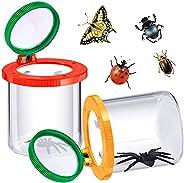 Skylety 2 件放大昆虫盒插入昆虫观察器昆虫放大镜容器动物昆虫笼儿童科学自然探索工具