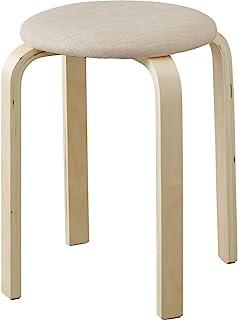 IRIS OHYAMA 爱丽思欧雅玛 小型桌子/凳子系列 デスク用スツール(ベージュ) 32×32×45cm K514656