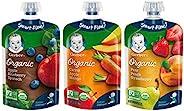 Gerber 嘉宝 二代食品,水果和蔬菜混合装婴幼儿食品,3.5盎司,99克,袋装,18粒