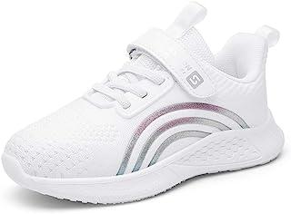 MUYGUAY 透气女孩运动鞋跑步运动鞋适合幼儿和小儿童