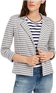 Maison Jules 条纹 Breton 西装外套柔软灰色 XXL