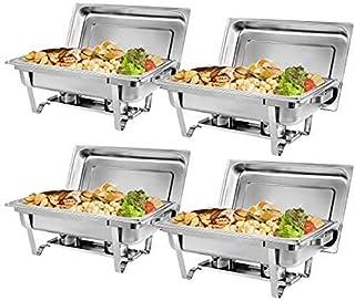 BotaBay 4 件装擦伤餐具 8 夸脱高级不锈钢锅 全尺寸