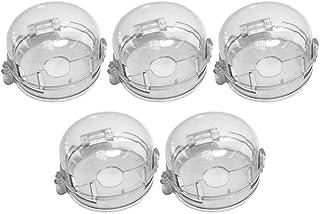 TOYANDONA 5 件透明炉灶旋钮盖儿童*防护通用烤箱盖燃气灶开关保护家庭厨房