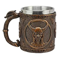 Ebros Gift Norse Mythology Viking Gods And Goddesses 咖啡杯 368.54 克樹脂 God Loki SG_B07L7JJLB8_US