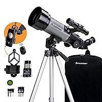 Celestron - 70mm 旅行范圍 DX - 便攜式折射器望遠鏡 - 全涂層玻璃光學 - 初學者理想伸縮器 - 贈送天文軟件包 - 數字化智能手機適配器