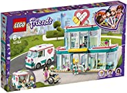 LEGO 乐高 41394 Friends Heartlake City Hospital 玩具组合,含 Emma 和 2 个其他迷你娃娃,适合女孩和男孩 6 岁以上儿童