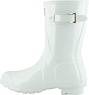 HUNTER 女式原创短光泽雨靴,薄荷色