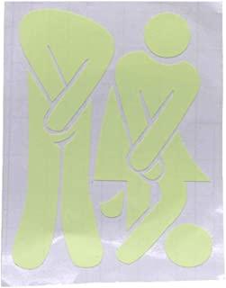 FHOU 马桶贴纸,卫生间浴室墙贴厕所装饰夜光防水