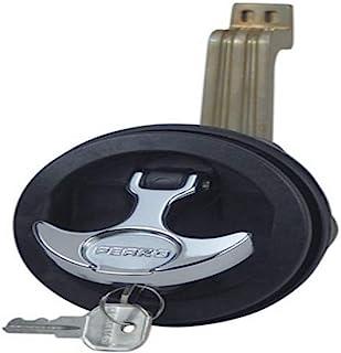 Perko 1091DP5BLK 表面安装锁定闩锁适用于 1/8 英寸至 3/4 英寸厚的光滑/地毯表面,适合 2-1/2 英寸孔 - 1-1/4 英寸到 2 英寸凸轮杆,黑色