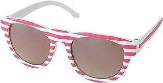 SPICE OF LIFE 眼镜 防紫外线儿童时尚眼镜 条纹 红色 儿童用 4-14岁 塑料框架 UV400切割 附带紫外线 收纳盒 SFKY1613