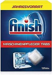 Finish 洗碗机养护清洁片 对抗洗碗机内的污垢和油脂 年量装/12片