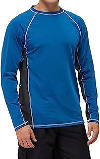 男式长袖*游泳衫 UPF 50+ * SPF UV T 恤,适合钓鱼、徒步、跑步、冲浪
