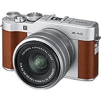 Fujifilm 富士 X-A5无镜数码相机,带Fujinon XC15-45mm光学防抖变焦镜头套件,棕色