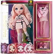 Rainbow High 时尚娃娃 - Bella Parker - 粉色主题娃娃,奢华服装,配饰和时尚娃娃支架 - 系列 2 - 送给6 岁以上女孩的理想礼物