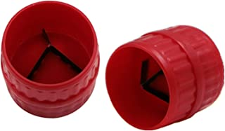 2 件内外铰刀管和管去毛刺铰刀管倒角工具适用于 PVC PPR 铜黄铜铝管(红色)