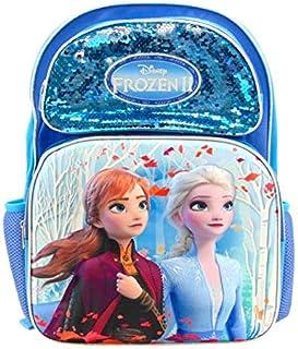 Disney 冰雪奇缘 2 Elsa Anna 全尺寸 16 英寸 3D 双肩包带亮片