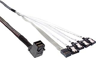InLine® 27631 A 迷你 SAS HD SFF-8643 到 4x SATA 倾斜电缆带侧带,0.5 米