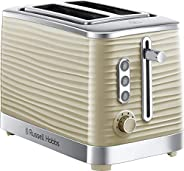 Russell Hobbs 24374 Inspire 2 Slice Toaster Wide Slot with Frozen Cancel and Reheat Settings, High Gloss Cream