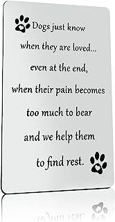 狗丢失礼物 狗狗纪念礼物 遗赠 狗礼物 狗狗失去同情情情感的情绪纪念礼物 送给悲伤的狗主人同情卡