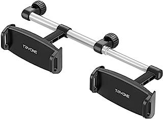 车载头枕平板电脑支架支架 - Tryone 头枕支架支架兼容 iPad Pro Air Mini、Galaxy Tabs、Switch Lite 或其他 4.7 - 12.9 英寸设备