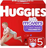 HUGGIES Little Movers 纸尿裤 NEW Economy Plus Pack 5 124