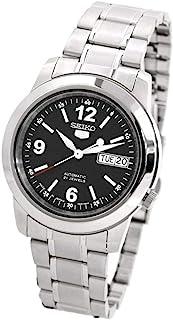 SEIKO 精工 SNKE63J1 男式 5 自动黑色表盘不锈钢手表