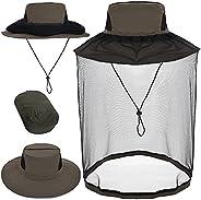 ZffXH 蚊帐帽面罩钓鱼帽蜜蜂养蜂人面纱帽男式女式