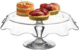 Dajar 蛋糕架带脚 32 厘米 帕萨巴哈塞,玻璃,透明,32 x 32 x 11.5 厘米