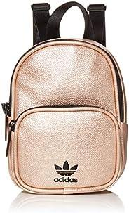 adidas 阿迪达斯 Originals 女式迷你 PU 皮背包,玫瑰金/黑色,均码