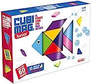 Lúdilo 80918 Cubimag Jr. (游戏) 儿童学习游戏 磁性拼图 初级版本 旅行游戏 学习玩具