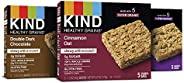 KIND 谷物棒,双重黑巧克力,肉桂燕麦和枫木南瓜5件装(3盒)