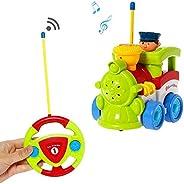 Liberty 进口 My First RC 卡通车载双通道遥控玩具——音乐、灯光和声音,适合宝宝、幼儿、儿童 火车