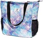 原创花卉防水大手提包单肩包,适用于健身房沙滩旅行日常包* [Z] 珍珠贝壳 large