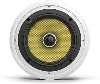 Audibax   吸顶扬声器 KA08   8英寸白色天花板内置扬声器   大 70 W 功率   颜色:白色   强大的声音   易于安装