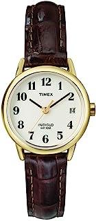 Timex TW2R63400 Easy Reader Burgundy 25mm 女士鳄鱼图案皮革表带手表