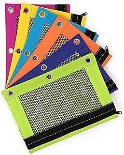 PowerTRC 3 环亮色铅笔袋,带网眼窗口,适用于学校、工作或家庭(各种颜色)(144)