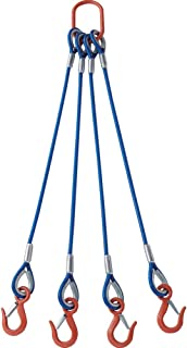 TRUSCO 4根吊球挂线绳(带有彩色覆盖)铝锁型 蓝色透明1.5M TWSP4P12S1.5