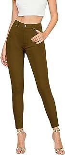 CLIV 女式正装裤 紧身腿裤 弹力 易穿脱 舒适 办公室 Ponte 长裤