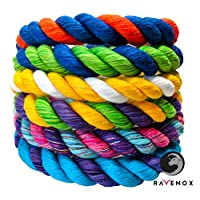 Ravenox 彩色绞花棉绳   美国制造   定制颜色三股绳和绳子 适用于运动、装饰、宠物玩具、工艺品、流苏和室内室外使用   *和直径