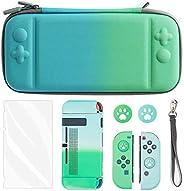 Laishalaiku 便携包 - Nintendo 任天堂 Switch 基本套件,带便携收纳盒、屏幕保护膜、Joy-Con 保护盖、游戏支架、拇指帽 - 蓝* 渐变