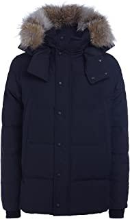 加拿大鹅鹅绒羽绒大衣 - 男式*蓝,M 码
