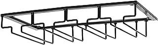 Saim 酒杯架,橱柜下柄器具架,厨房酒吧存储黑色,适用于家庭酒吧收纳盒 - 4 排