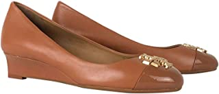 Tory Burch Everly 35 毫米开普托坡跟鞋,纳帕皮革/漆皮,棕褐色
