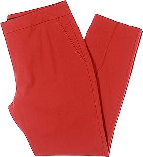 Lauren by Ralph Lauren 女士长裤修身罗纹针织长裤红色 14